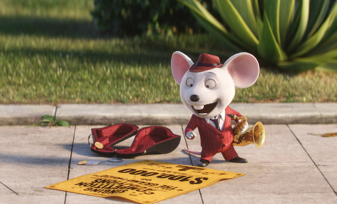 Mike, voiced by Seth MacFarlane, is the Jazz loving mouse Credit@Universal Studios