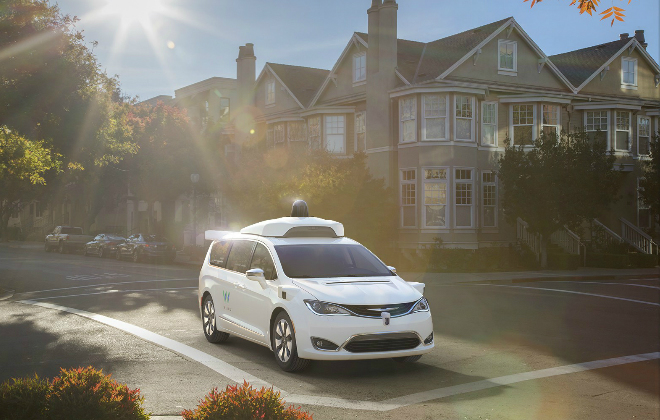 A prototype self driving car from Google's Waymo Project credit@Google.Alphabet