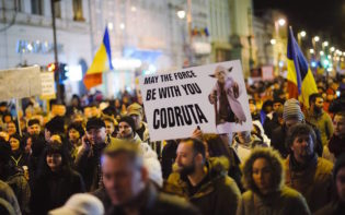 Street rallies in Arad, Romania. Credit@Ciprian Hord