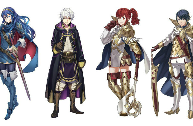 A few of the recruitable characters from Fire Emblem Heroes credit@Nintendo