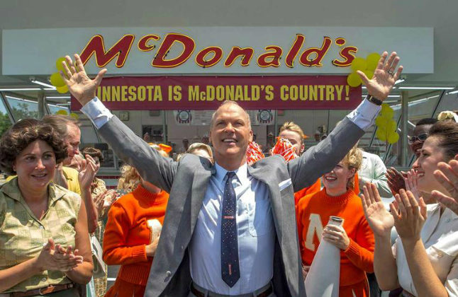 Michael Keaton stars as Ray Kroc who played a key role in McDonald's expansion. Credit@FilmNationEntertainment.TheWeinstein Company