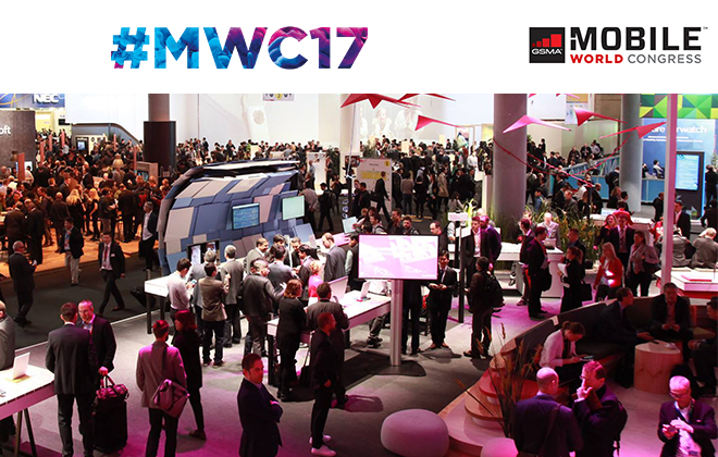 The Mobile World Congress is an annual trade show which aims to showcase the latest innovations in mobile technology. Credit@2017 GSM Association.