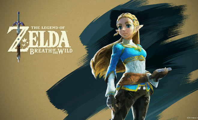 Zelda returns in Breath of the Wild to join Link in a sprawling adventure. Credit@2017 Nintendo. The Legend of Zelda, Wii U, and Nintendo Switch are trademarks of Nintendo.