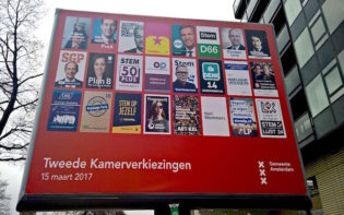 Dutch election posters 2017. Credit@wikipedia