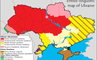 Ethnolingusitic map of Ukraine. Credit@zh.wikipedia.org