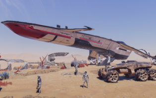 The Tempest is the spaceship players may use to explore the planets and moons of the Andromeda Galaxy. Credit@ElectronicArts.Bioware