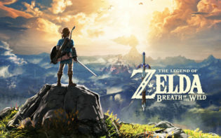 Link views the vast Kingdom of Hyrule from mountain top. Credit@2017 Nintendo. The Legend of Zelda, Wii U, and Nintendo Switch are trademarks of Nintendo.