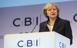 Theresa May at CBI Conference. Credit@flickr