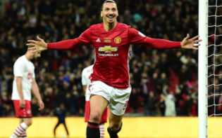 Zlatan Ibrahimovic celebrates scoring his 87th minute winner. Credit @tumblr.com.