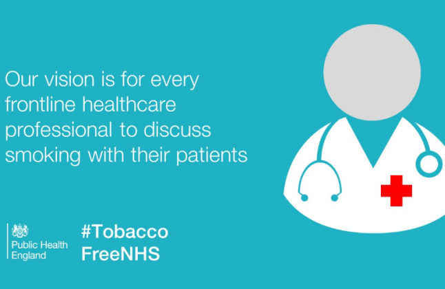 A poster from Public Health England's tobacco-free campaign. Credit @PHE via twitter.
