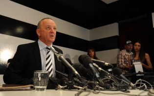 Southern Cross Austereo CEO Rys Holleran faces the media about the prank call