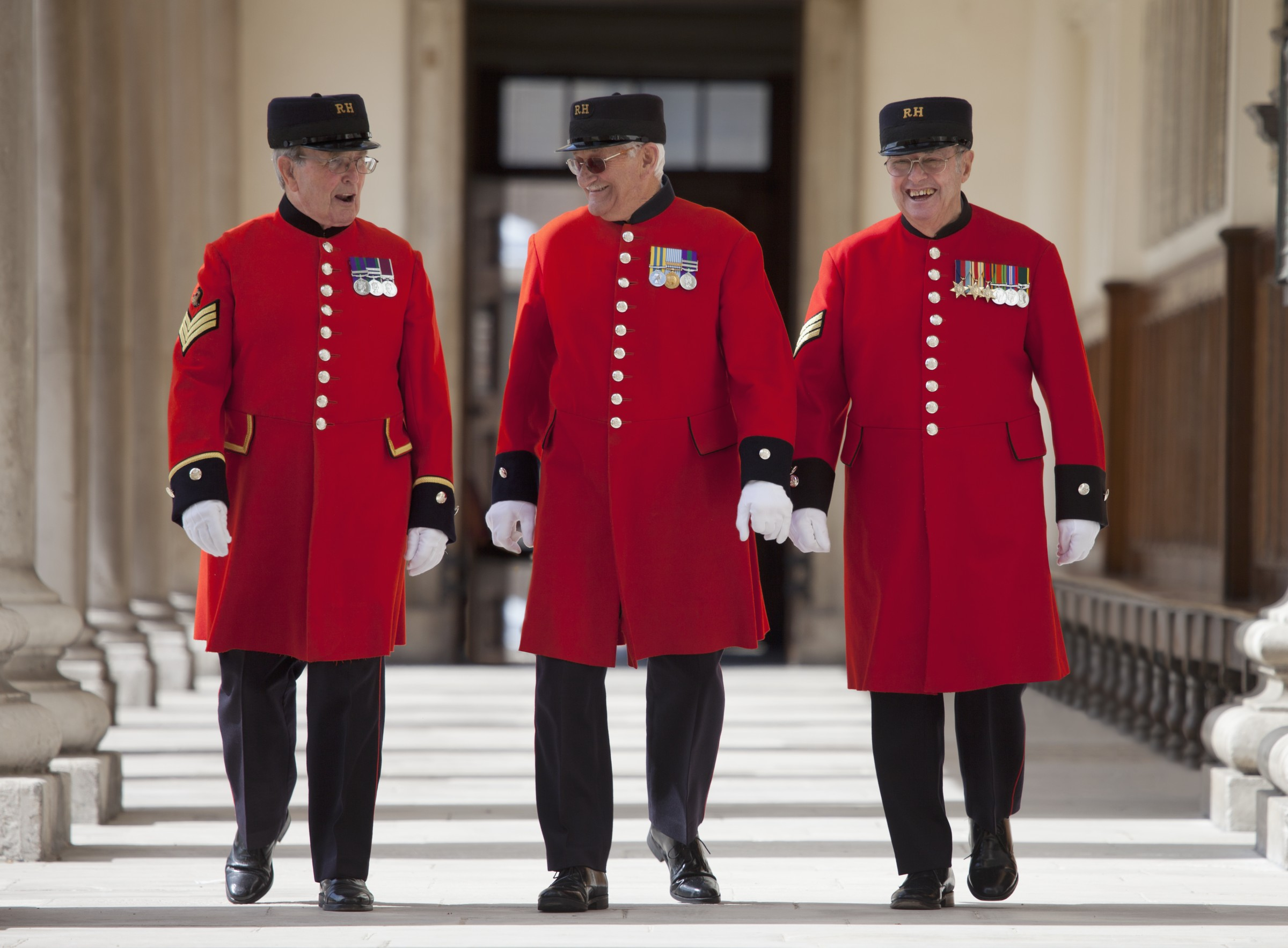 Three Chelsea Pensioners