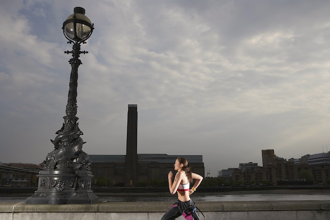 Runner on Embankment