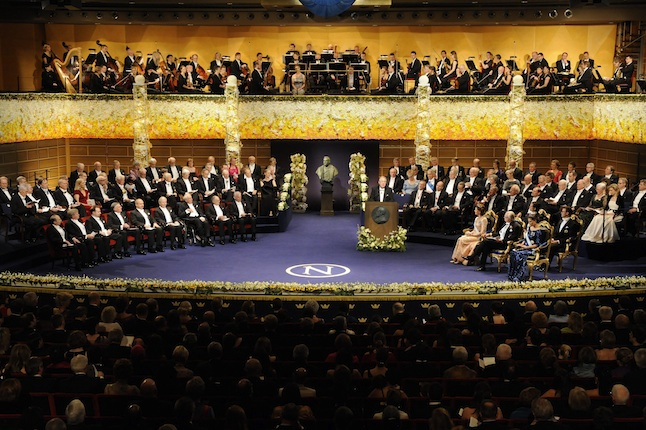 Nobel Prize ceremony at the Concert Hall in Stockholm