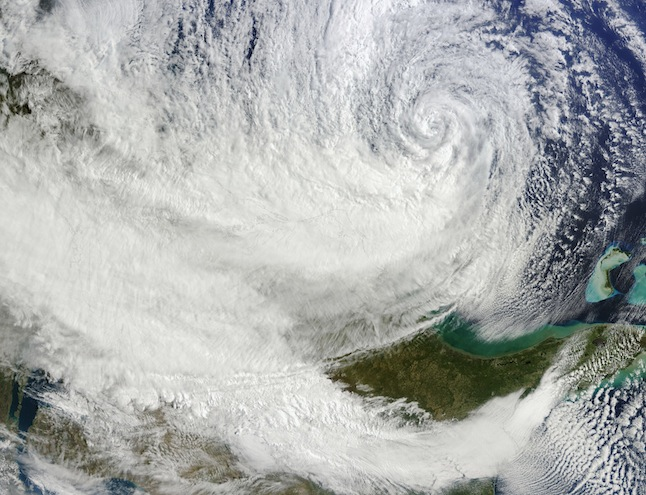 Hurricane Sandy off the eastern United States