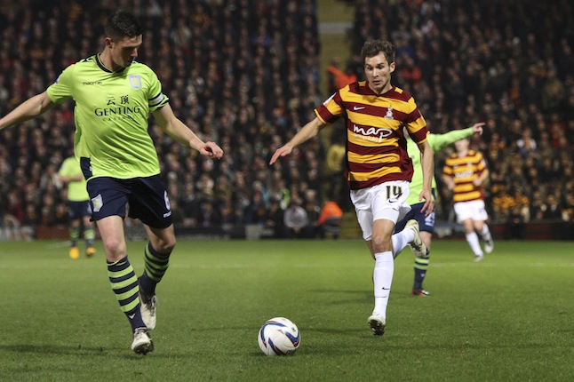 Soccer - Capital One Cup Semi Final 1st Leg - Bradford City v Aston Villa