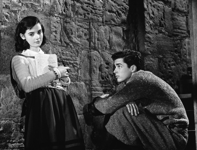 Millie Perkins and Richard Beymer Practicing a Movie Scene