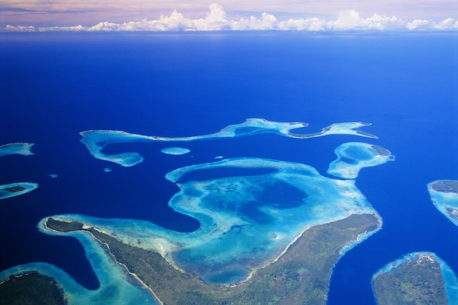 Aerial View of The Solomon Islands