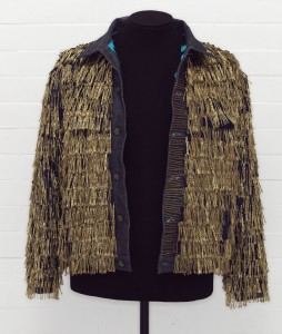 Leigh Bowery's fringed Levi Strauss jean jacket. Courtesy of V&A.