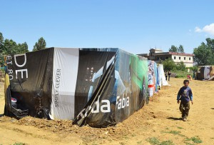 Shops are appearing in the camp out of metal cargo containers, credit to Trocaire, flickr.com