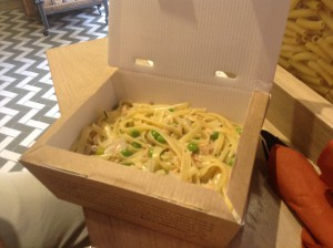 Dishes like Fettuccine pasta is handmade