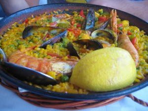 Seafood paella is Spanish traditional dish
