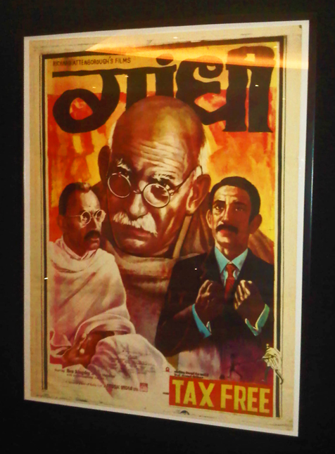 One of the posters showcased at the exhibition, Gandhi, 1982