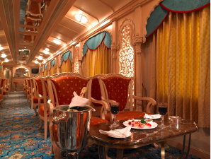 Traveling in style. Credit@Indianluxurytrainsviaflickr.com
