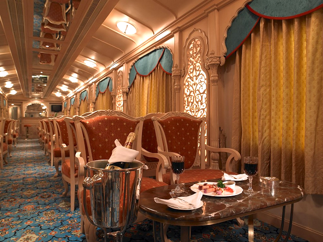 Travel like a royal on the Palace on Wheels. credit - Indianluxurytrains via flickr