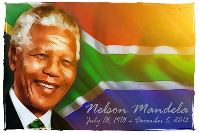The greatest hero of all times: Nelson Mandela. Credit: Max Tegman via flickr.com