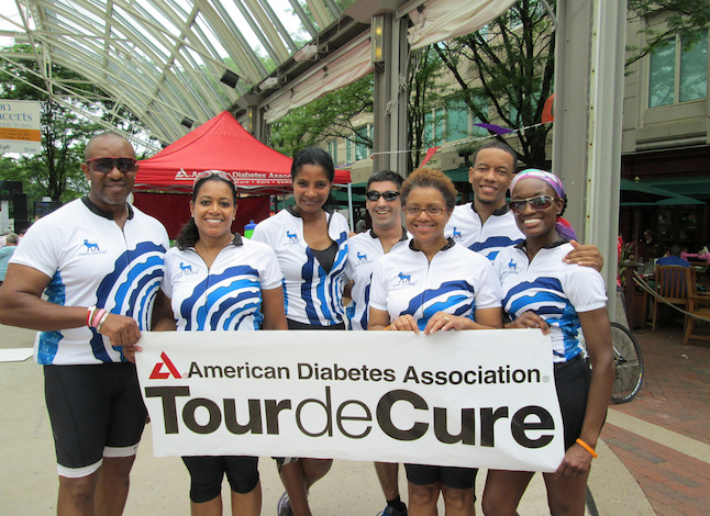 Team Novo Nordisk on one of their many campaign rides to help spread awareness of diabetes