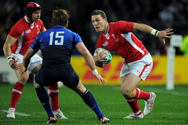 George North takes on French Defence - Credit rugbyworldcup_ from Flickr