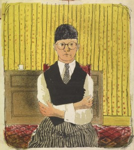 "David Hockney's ""Self Portrait"" (1954) creditsource@Richard Schmidt"
