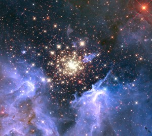Starburst Cluster Credit @ NASA Goddard Space Flight Centre via Flickr.com