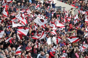 Saracens fans can look forward to 2 finals credit@twitter