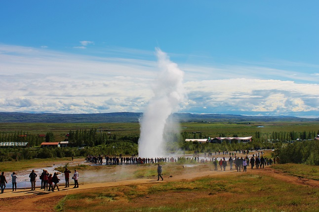 Geyser in south west Iceland. credit@gemma_Geyser.