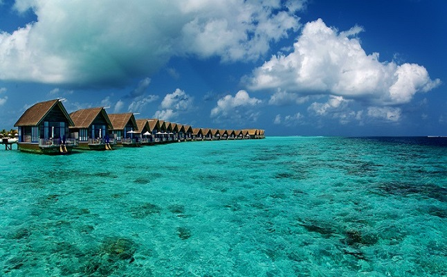 Stunning resorts in the Maldives. Credit@Chi King