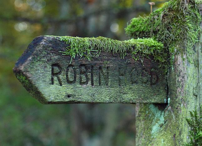 Robin Hood Signpost. Credit@ Johnson Cameraface via Flickr.com