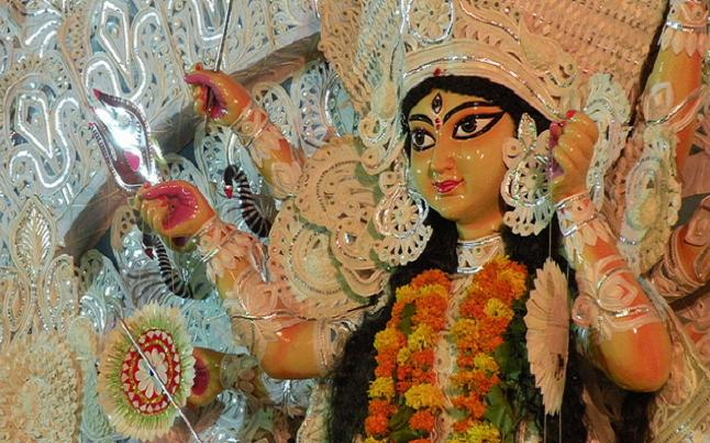 Durga Idol within Navratri. Credit@ Dhrubajyoti Biswas via Flickr.com