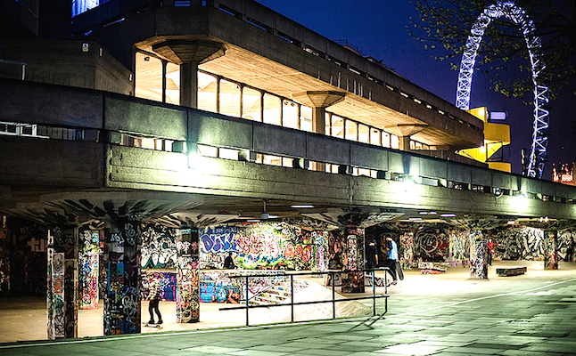 The Queen Elizabeth Hall's undercroft. Credit@twitterLongLiveSouthbank