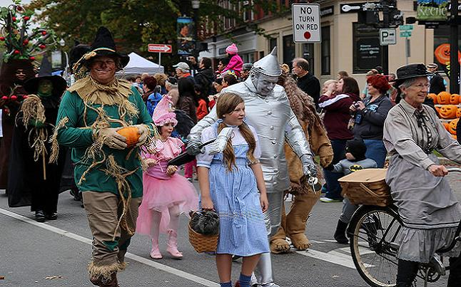An Example of the modern day Halloween costumes and festivity. Credit@ Dan via Flickr.com