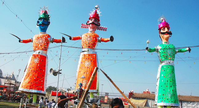 Festival in northern India celebrating the the triumph of lord rama Credit@Sayantan Bera