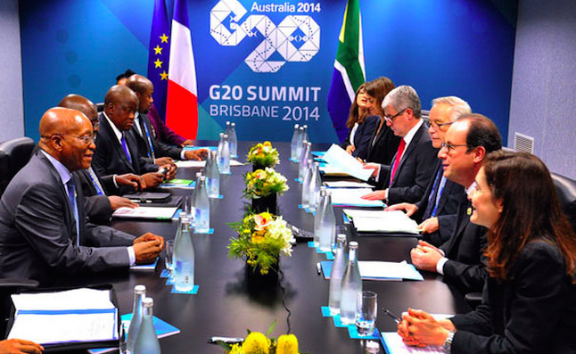 Leaders meet at the G20 summit in Brisbane, Australia. Credit@GovernmentZA G20 Summit in Brisbane Australia,Nov 2014
