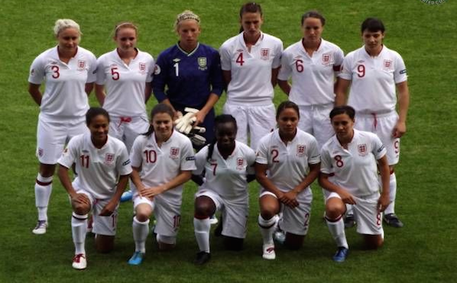 England WFT in fixture against Cyprus  credit @womensoccerunited