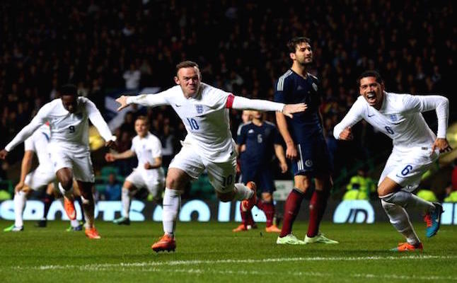 Rooney celebrating his 46th england goal. credit@englandviatwitter