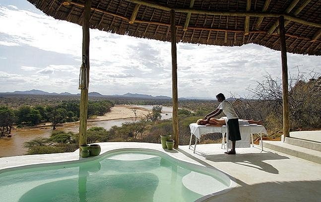 The Liz Earle lodge overlooking the Kenyan landscape. Credit@ highlife.ba.com