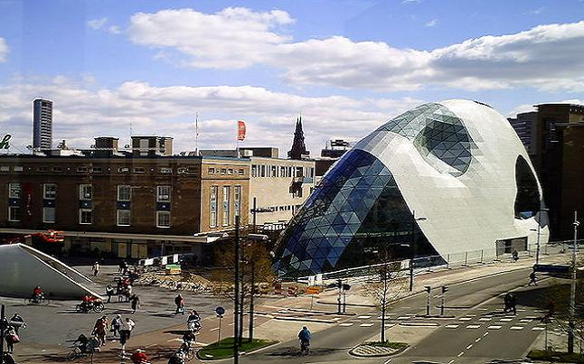 The Piazza building within the centre of Eindhoven, another example of innovative construction. Credit@ wiki.com