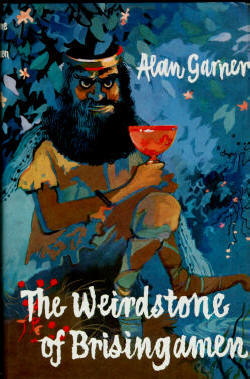 This is the cover to the 1960 first edition of The Weirdstone of Brisingamen by Alan Garner.  credit@harpercollin .wikipedia.org