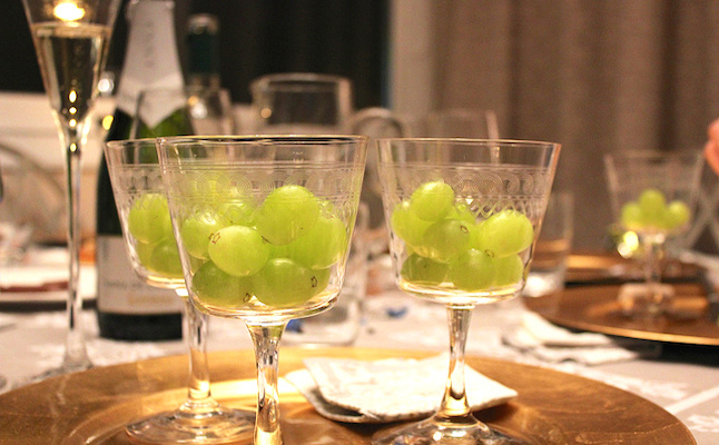 New Years Eve  Grapes waiting for midnight Credit@flickr.com:photos:chrisoakley