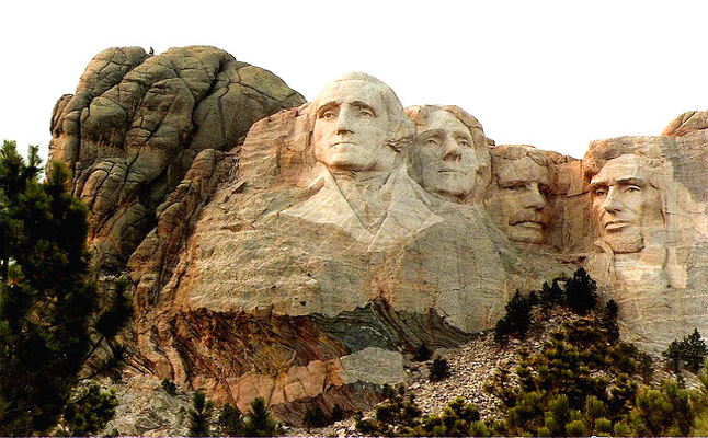 Mount Rushmore National Memorial featuring sculptures of the heads of four United States presidents Credit@ladydragonflyherworldviaflickr